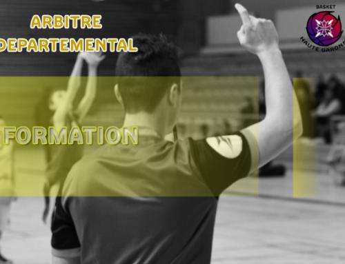 Formation Arbitre Départemental et U16