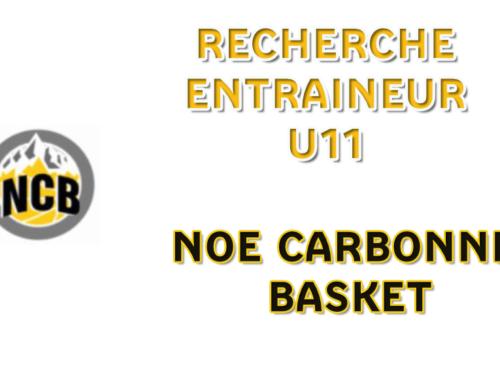 Noé Carbonne recherche un entraineur U11M