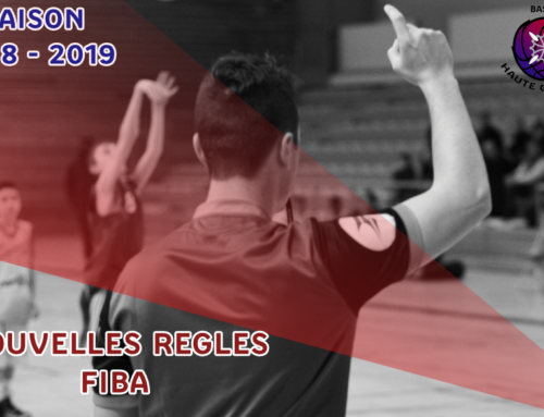 Nouvelles règles FIBA 2018-2019