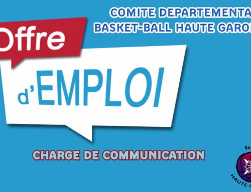 Offre d'emploi chargé(e) de communication