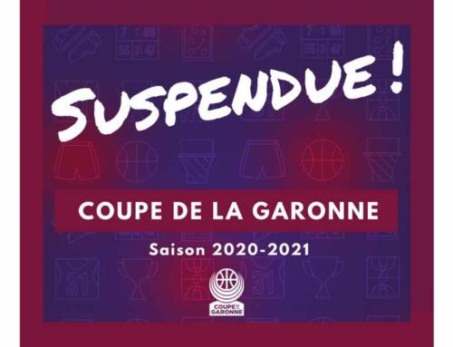 COUPE DE LA GARONNE – DÉCISION BUREAU DÉPARTEMENTAL